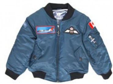 4-Patch Royal Canadian Air Force Flight Jacket (Blue) - Brampton ...