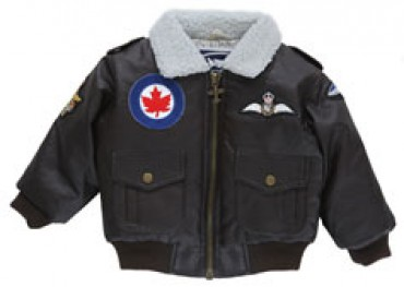 5-Patch Embroidery Royal Canadian Air Force Bomber Jacket (Brown) 287e0d80dc48